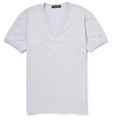 Dolce & Gabbana V-Neck Cotton T-Shirt