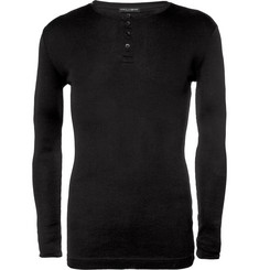 Dolce & Gabbana Ribbed Cotton-Jersey Henley T-Shirt