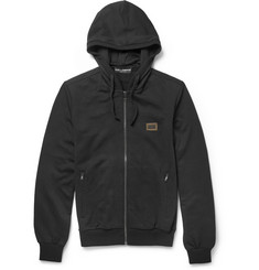 Dolce & Gabbana Loopback Cotton-Jersey Hoodie