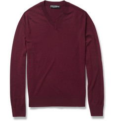 Dolce & Gabbana V-Neck Wool Sweater
