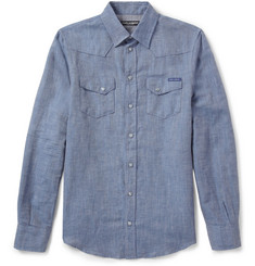 Dolce & Gabbana Linen and Cotton-Blend Western Shirt