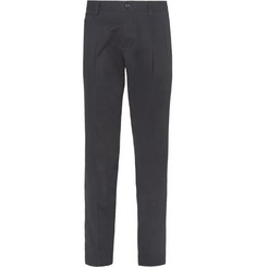 Dolce & Gabbana Tapered Cotton Pleat-Front Trousers