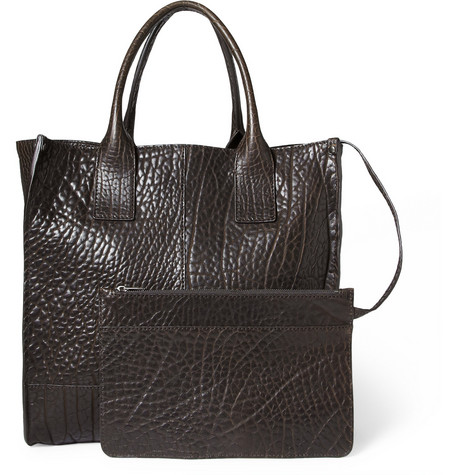 Dolce & Gabbana Textured-Leather Tote Bag With Detachable Pouch