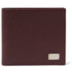 Dolce & Gabbana Cross-Grain Leather Billfold Wallet