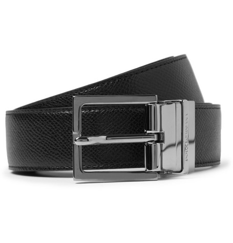 Dolce & Gabbana Cut-to-Fit Reversible 3cm Leather Belt