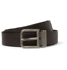 Dolce & Gabbana Brown 2.5cm Embossed Leather Belt