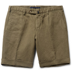 Slowear Incotex Slim-Fit Linen and Cotton-Blend Shorts