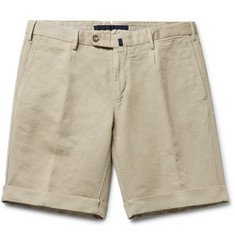 Incotex - Slim-Fit Linen and Cotton-Blend Shorts