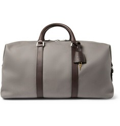 Mulberry Clipper Leather-Trimmed Canvas Holdall Bag