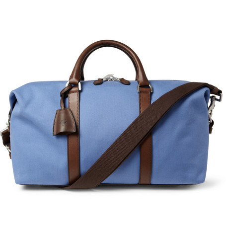 Mulberry Small Clipper Leather-Trimmed Canvas Holdall Bag