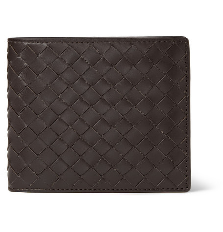 Bottega Veneta – Intrecciato Leather Billfold Wallet – Brown