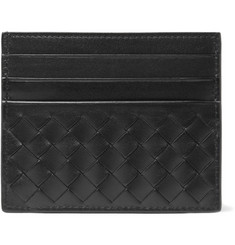 Bottega Veneta Intrecciato Woven-Leather Cardholder