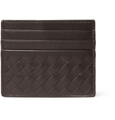 Bottega Veneta Intrecciato Woven Leather Card Holder