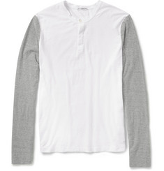 James Perse Slub Cotton-Jersey Henley T-Shirt