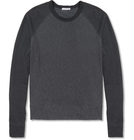 James Perse Loopback Cotton-Jersey Sweater