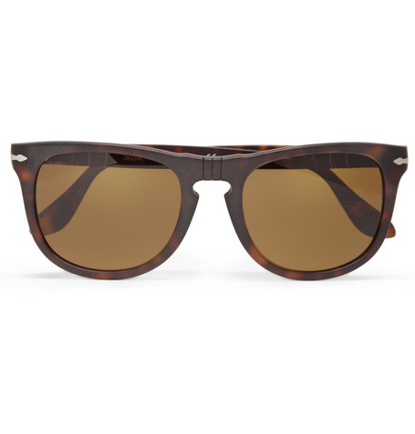 Persol 54 Havana Polarised Acetate Sunglasses
