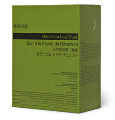 Aesop Geranium Leaf Duet Body Cleanser and Balm, 2 x 500ml