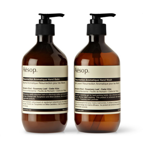 Aesop Resurrection Duet Hand Wash and Balm 2 x 500ml
