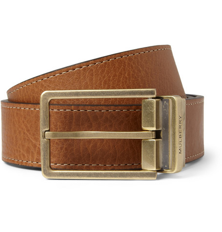 Mulberry Reversible 3cm Full-Grain Leather Belt