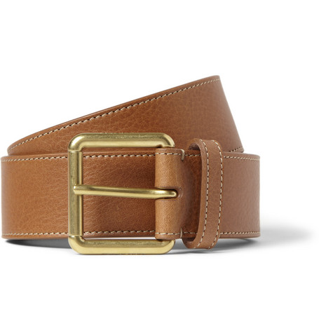 Mulberry Brown 3.5cm Full-Grain Leather Belt