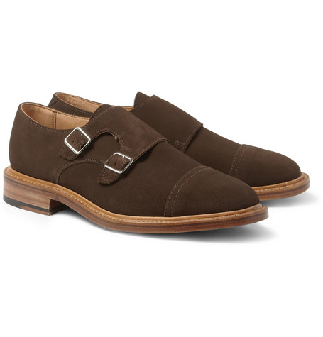 Mark McNairy Suede Double Monk-Strap Shoes