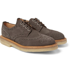 Mark McNairy Crepe-Sole Suede Wingtip Brogues