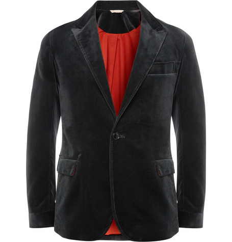 Oliver Spencer Bampton Slim-Fit Velvet Blazer