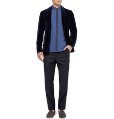 Oliver Spencer Regular-Fit Side-Stripe Wool Trousers