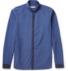 Oliver Spencer Contrast-Placket Cotton Shirt