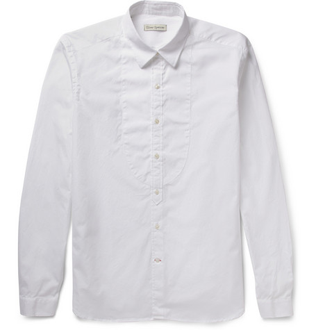 Oliver Spencer Convertible-Collar Cotton-Poplin Shirt