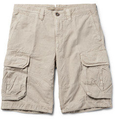 Incotex - Washed Cotton and Linen-Blend Cargo Shorts