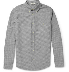 NN.07 Derek Polka-Dot Cotton Oxford Shirt