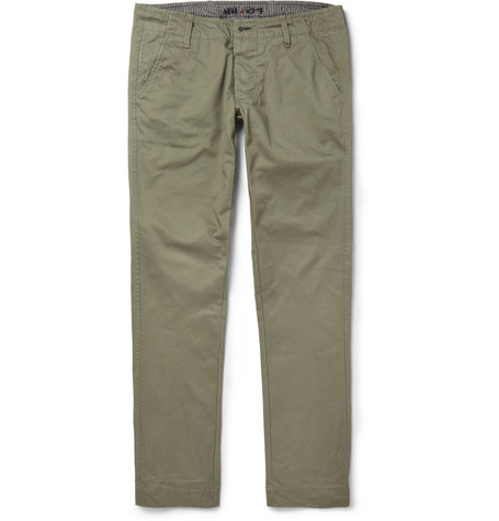 NN.07 Simon Slim-Fit Cotton Trousers