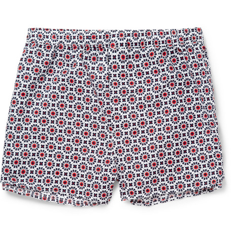 Derek Rose Nelson Printed Cotton Boxer Shorts