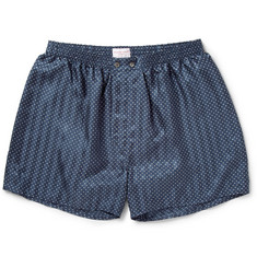 Derek Rose Brook Polka-Dot Silk Boxer Shorts