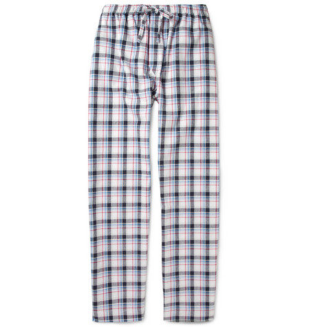 Derek Rose Portofino Plaid Cotton Pyjama Trousers
