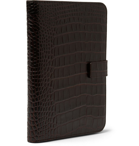 Smythson Crocodile-Embossed iPad Mini Case