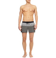 Dan Ward Patterned Short-Length Swim Shorts