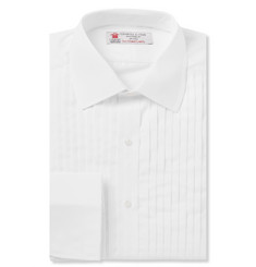 Turnbull & Asser - White Sea Island Cotton Tuxedo Shirt