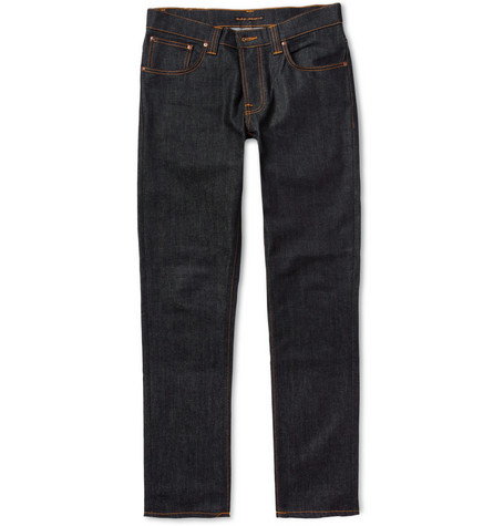 Nudie Jeans Grim Tim Slim-Fit Organic Dry Denim Jeans