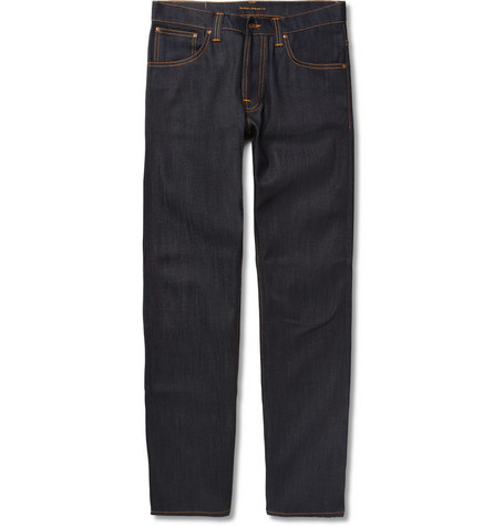Nudie Jeans Average Joe Regular-Fit Organic Dry-Denim Jeans