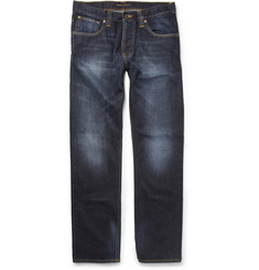 Nudie Jeans Average Joe Regular-Fit Organic Washed-Denim Jeans