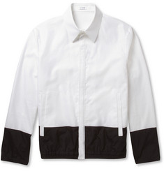 Jil Sander Panelled Lightweight Woven-Cotton Bomber Jacket