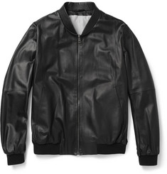 Jil Sander Leather Bomber Jacket