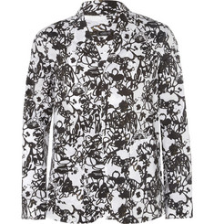 Jil Sander Printed Cotton Lightweight Blazer