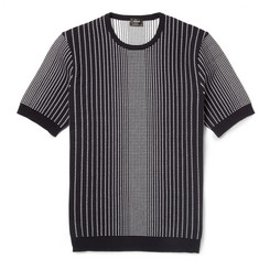 Jil Sander Jacquard Cotton-Blend Knit T-Shirt