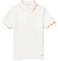 Jil Sander Two-Tone Pique Polo Shirt