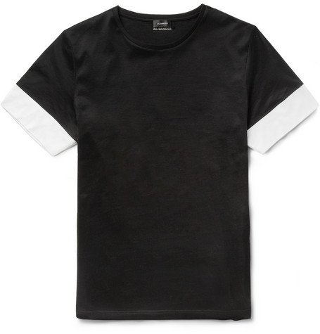 Jil Sander Panelled Cotton-Jersey T-Shirt