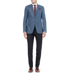 Paul Smith London Byard Slim-Fit Unstructured Slub Silk Blazer