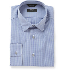 Paul Smith London Navy Byard Check Cotton Shirt